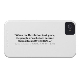 The People Are SOVEREIGN Martin v Waddell Case-Mate iPhone 4 Case