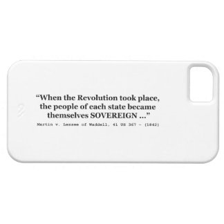 The People Are SOVEREIGN Martin v Waddell iPhone SE/5/5s Case