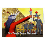 The People Excuse Mubarak Cards