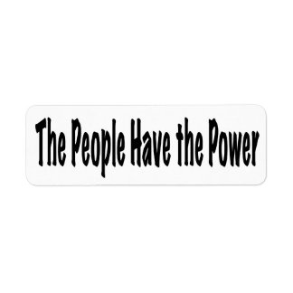 The People Have the Power Label