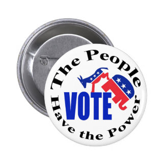 The People Have the Power. Vote Button