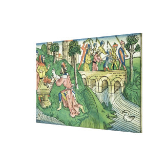The people of Damascus are taken captive Canvas Print