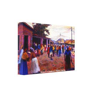 The people of  Nigeria Mojisola Gbadamosi Okubule Canvas Print