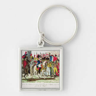 The People of Paris Acclaiming Napoleon Keychain