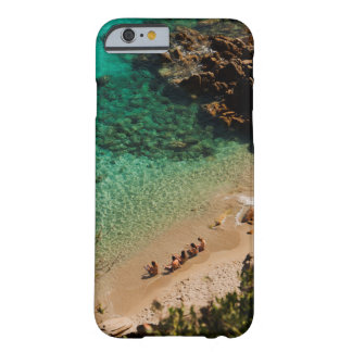 the people on the beach in sardinia capo testa barely there iPhone 6 case