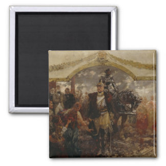 The People Render Homage to Bismarck, 1911 Fridge Magnets