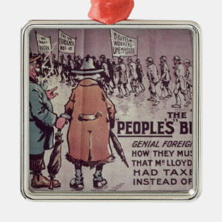 The People's Budget', 1909 Metal Ornament