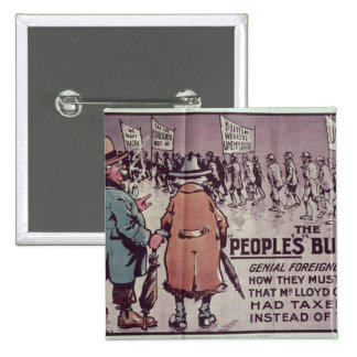 The People's Budget', 1909 Pinback Button