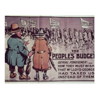 The People's Budget', 1909 Postcard