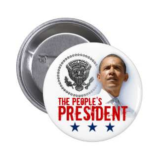 The People's President Pinback Button