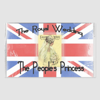 The People's Princess Rectangular Sticker