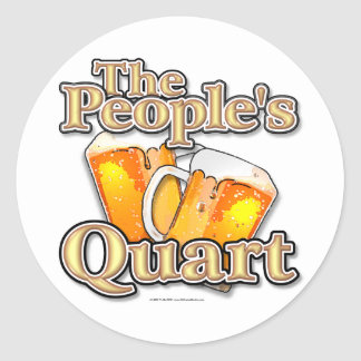 The Peoples Quart Round Sticker