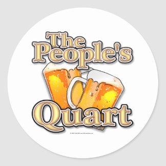 The Peoples Quart Round Stickers