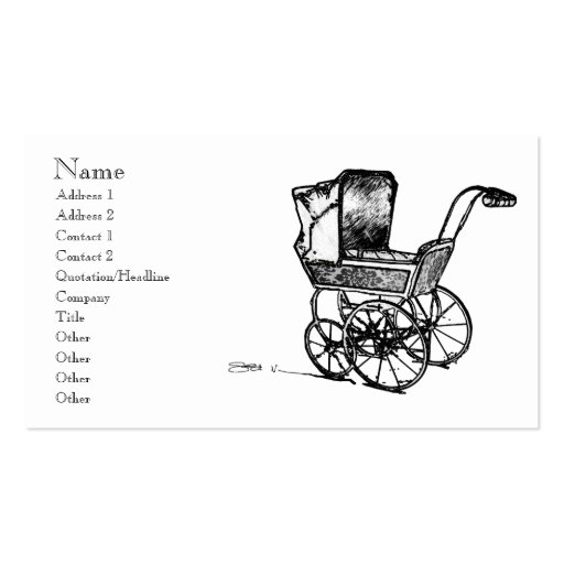 The Perambulator Double-Sided Standard Business Cards (Pack Of 100)