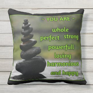 The Perfect Affirmation Outdoor Pillow