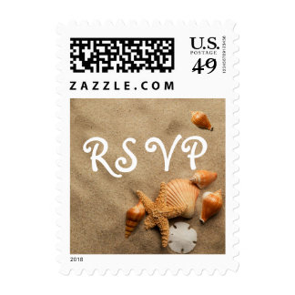 The Perfect Beach Wedding Postage Stamp