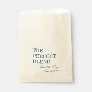 The Perfect Blend Coffee Favors, Trail Mix Navy Favor Bag