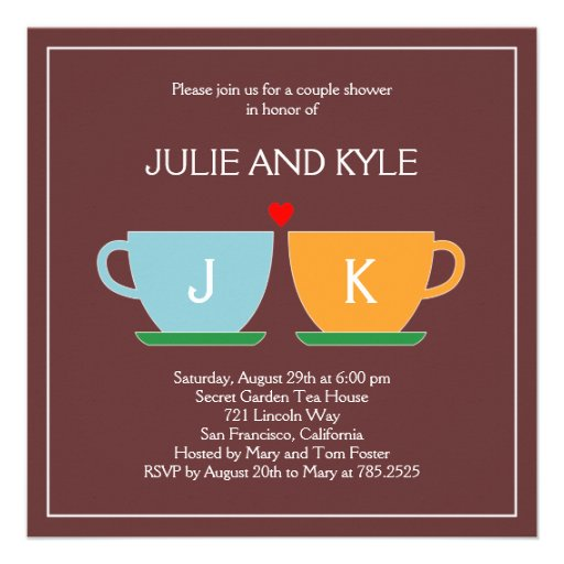 The Perfect Blend Engagement or Wedding Shower Personalized Invites