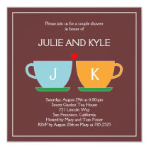 The Perfect Blend Engagement or Wedding Shower 5.25x5.25 Square Paper Invitation Card
