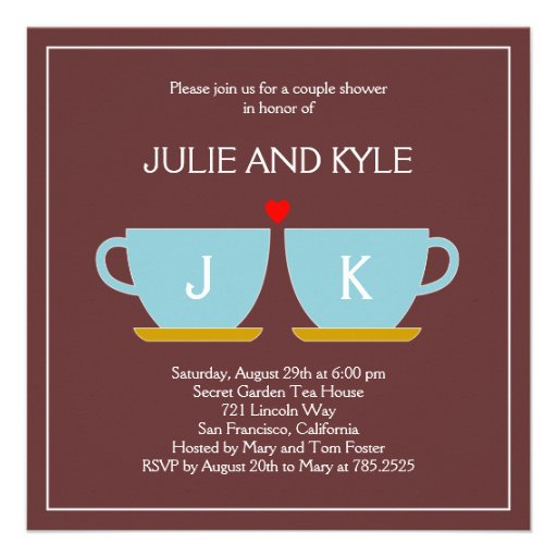The Perfect Blend Engagement or Wedding Shower Invitations