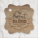 """The Perfect Blend Rustic Wedding Favor Tags<br><div class=""""desc"""">Rustic wood wedding tags 'The Perfect Blend'</div>"""