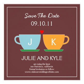 The Perfect Blend Save The Date Card Announcements