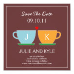 "The Perfect Blend Save The Date Card 5.25"" Square Invitation Card"