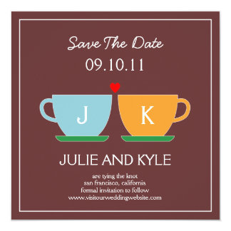 """The Perfect Blend Save The Date Card 5.25"""" Square Invitation Card"""