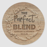 "The Perfect Blend Wedding Classic Round Sticker<br><div class=""desc"">The Perfect Blend Wedding Favor Stickers</div>"