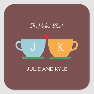 The Perfect Blend Wedding Favor Sticker/ Envelope Square Sticker