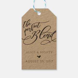 The Perfect Blend Wedding Favor Tags