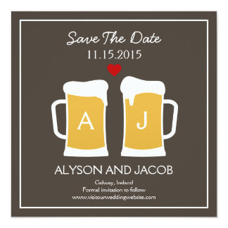 The Perfect Brew Save The Date Card