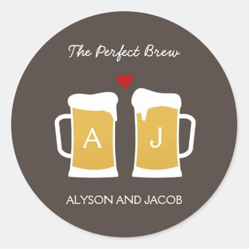 The Perfect Brew Wedding Favor Sticker/ Envelope Stickers