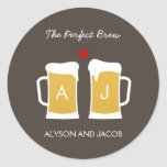 The Perfect Brew Wedding Favor Sticker/ Envelope Classic Round Sticker