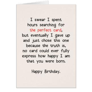 The Perfect Card (Birthday) #1