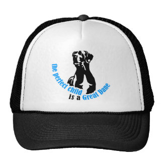 The perfect child is a great dane hats