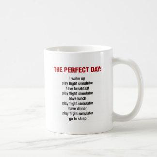 The Perfect Day - Flight Simulator Coffee Mug