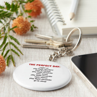 The Perfect Day - Flight Simulator Keychain
