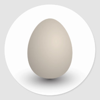 the perfect egg classic round sticker