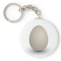 the perfect egg keychain