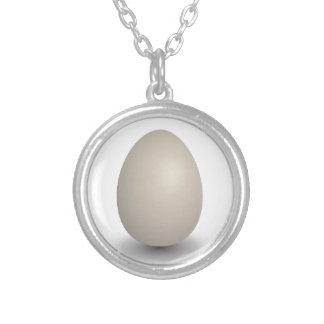 the perfect egg silver plated necklace