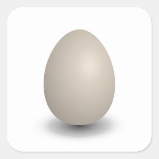 the perfect egg square sticker