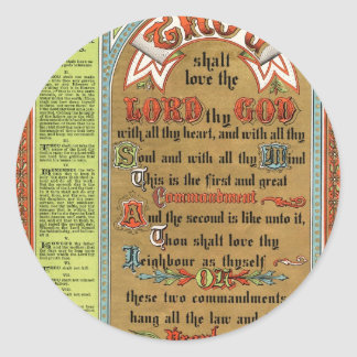 The Perfect Law of Liberty Classic Round Sticker