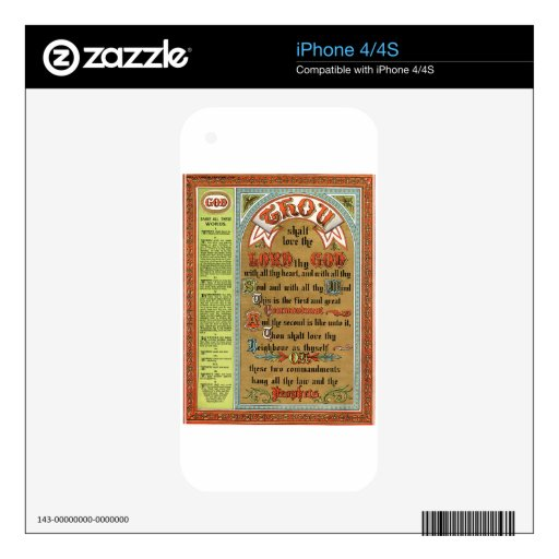 The Perfect Law of Liberty Skins For iPhone 4