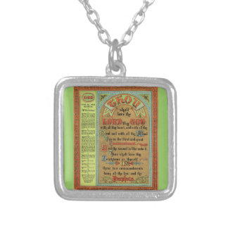 The Perfect Law of Liberty Square Pendant Necklace