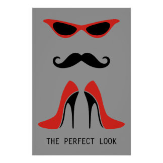 The Perfect Look in Black & Red Poster