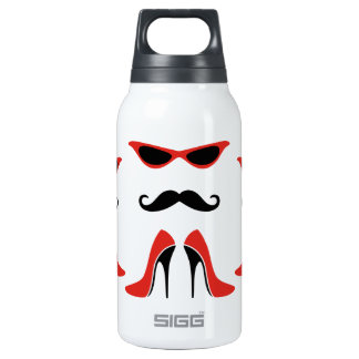 The Perfect Look in Black & Red SIGG Thermo 0.3L Insulated Bottle