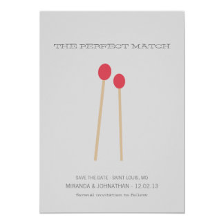The Perfect Match Photo Save The Date Invites