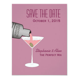 """The Perfect Mix Save The Date Card 4.25"""" X 5.5"""" Invitation Card"""