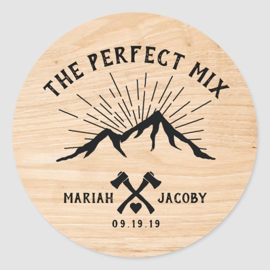 The Perfect Mix Wedding Favor DIY Trail Mix Classic Round Sticker ...
